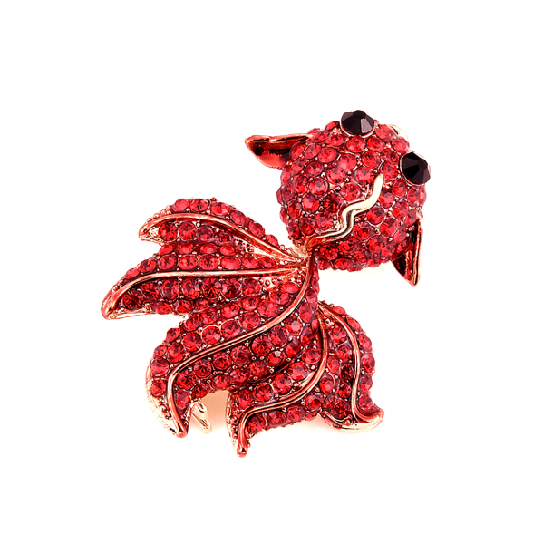 Red Fish Brooch