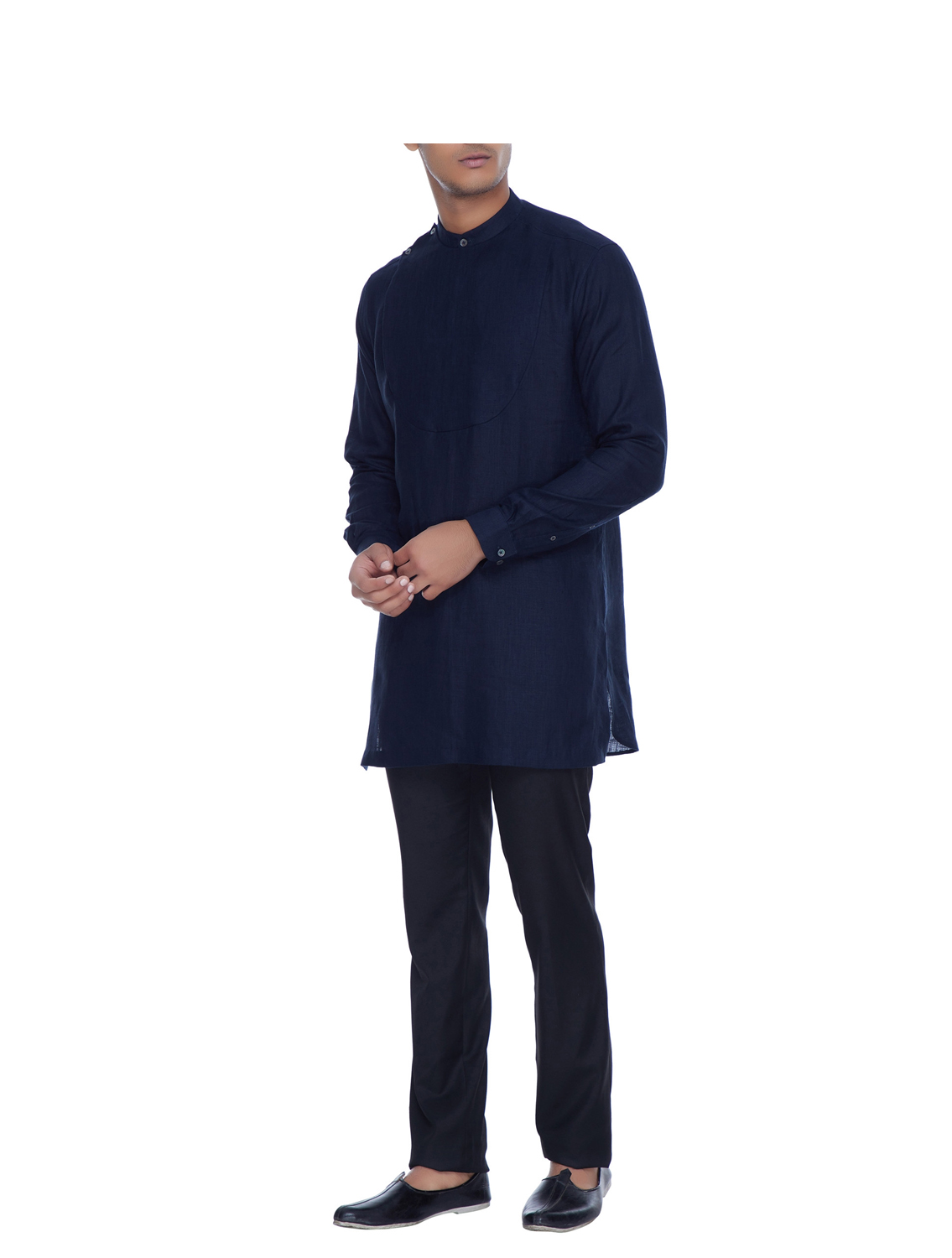 Jigar Blue Linen Shirt