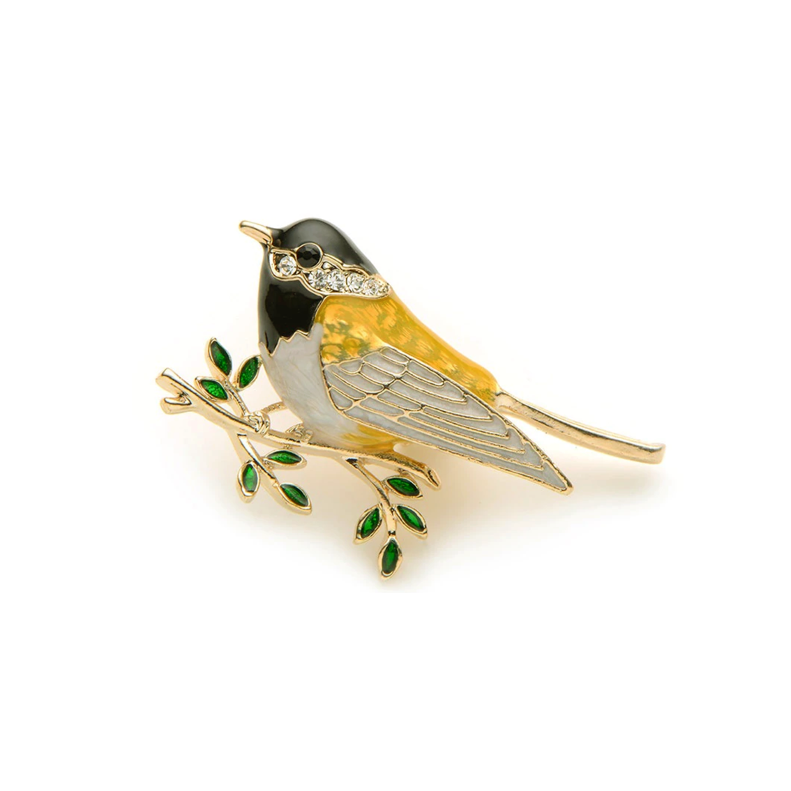 Yellow Oriole Bird Brooch