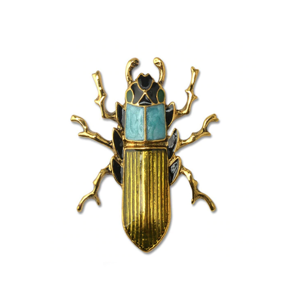 Scarab Insect Brooch