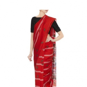 Riva Ravishing Red Handloom Cotton Saree