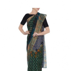 Neuf Printed Handloom Cotton Saree