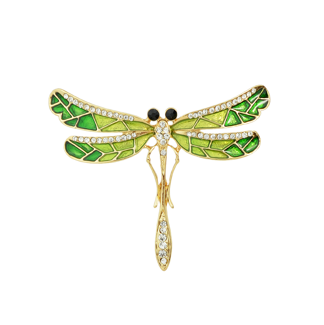 Dragonfly Studded Brooch