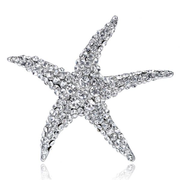Silver Starfish Brooch