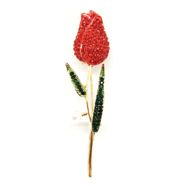 Red Tulip Brooch