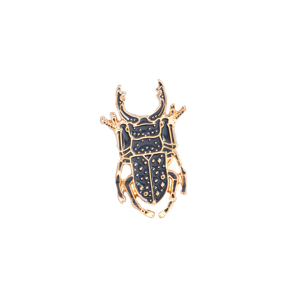 Black Scarab Insect Brooch