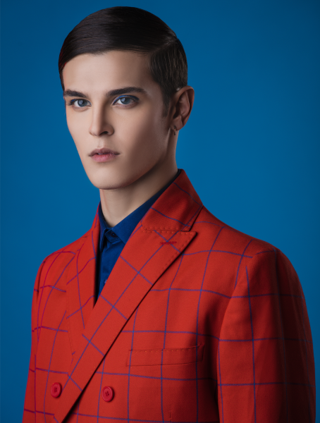 Red Chequered Suit