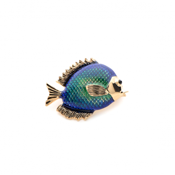 Petit Blue Fish Brooch