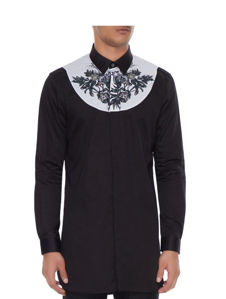 Reise Black Bib Shirt