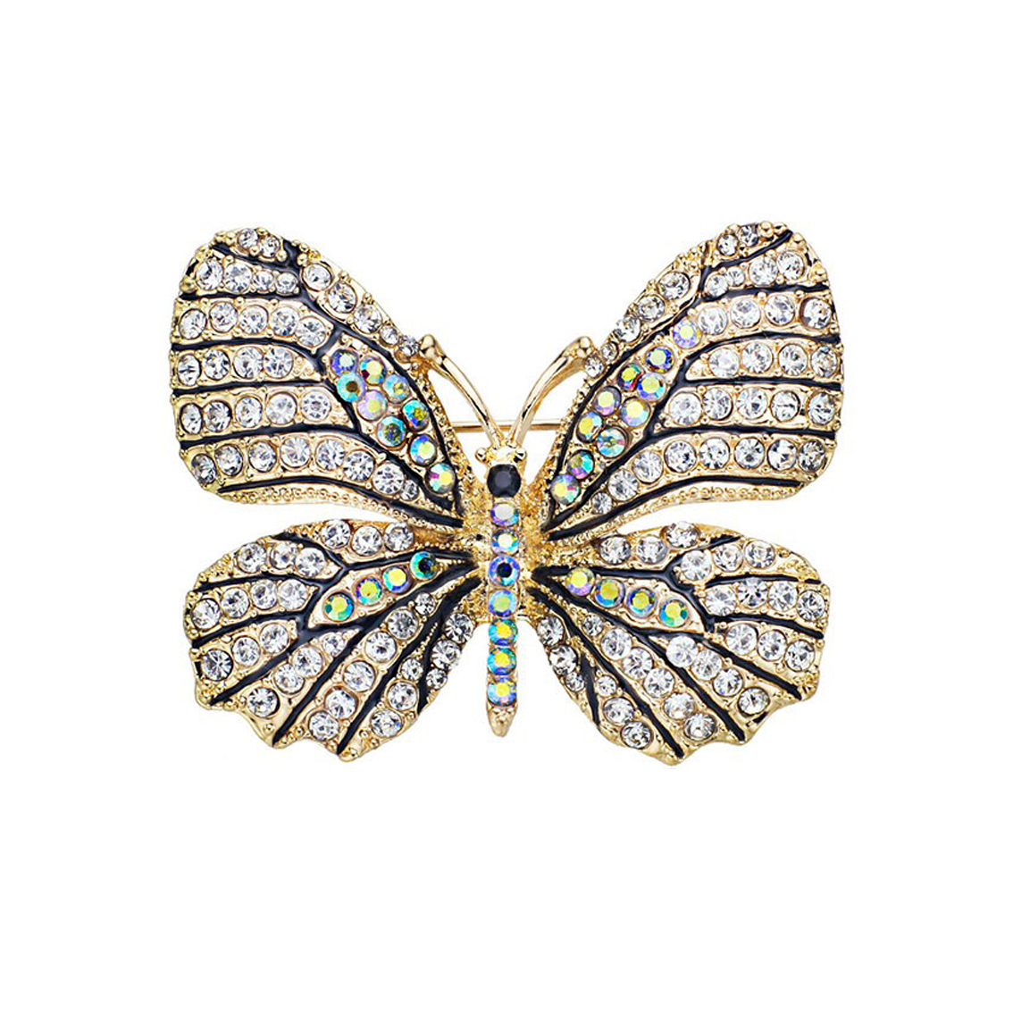 Studded Butterfly Brooch