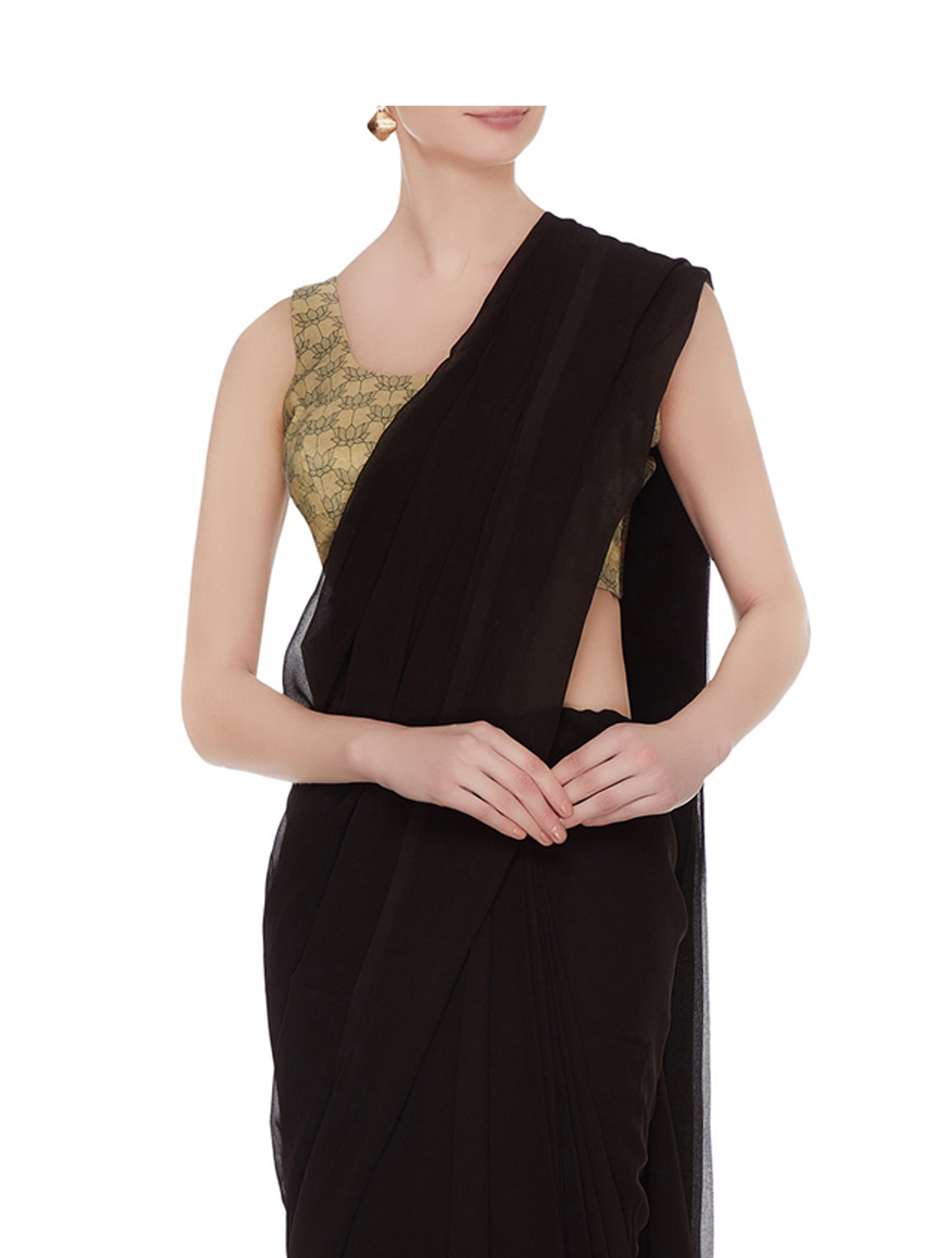 Neva Gold Sleeveless Silk Blouse