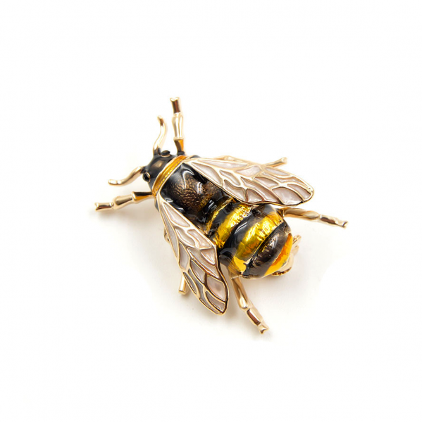 Yellow Bumblebee Brooch