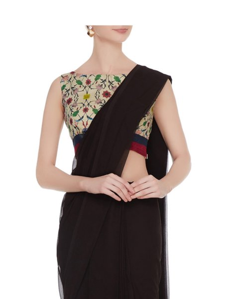 Nihar Boat Neck Sleeveless Blouse