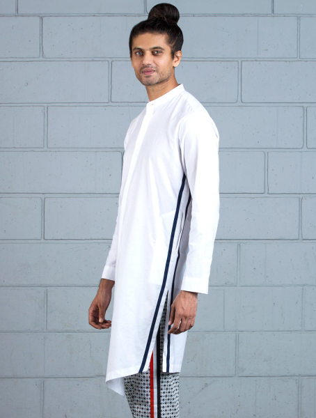 Kortajon Kurta with Striper on Sides