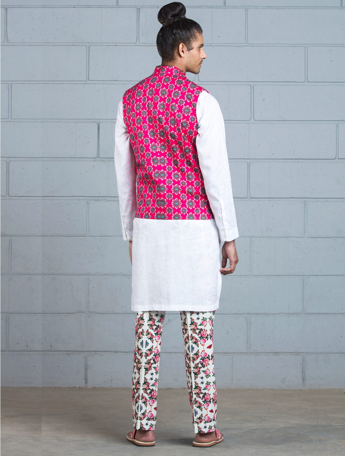 Kriyam Bib Style Shirt and Printed Pant Set