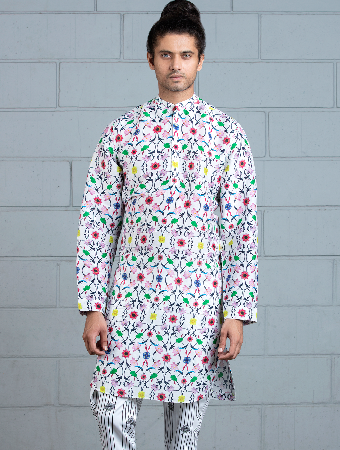 Komol Printed Kurta and Printed Pant Set
