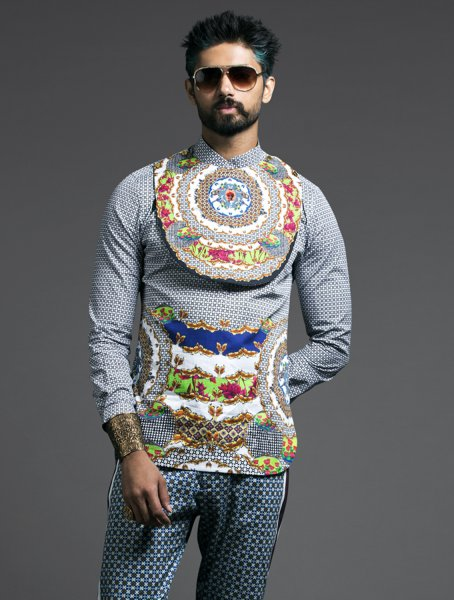 Jali Lotus Engineered Printed Shirt