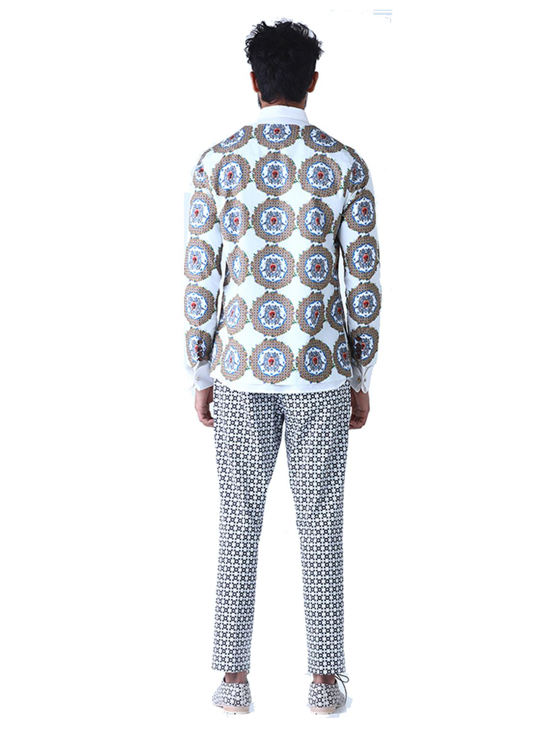 Keaton Slim Printed Trousers