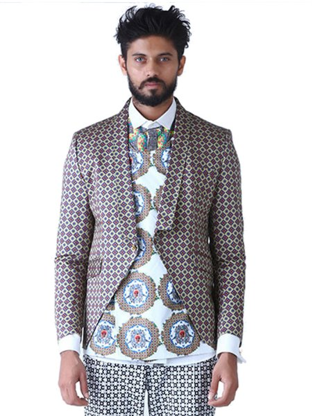 Circle of Life Crop Blazer