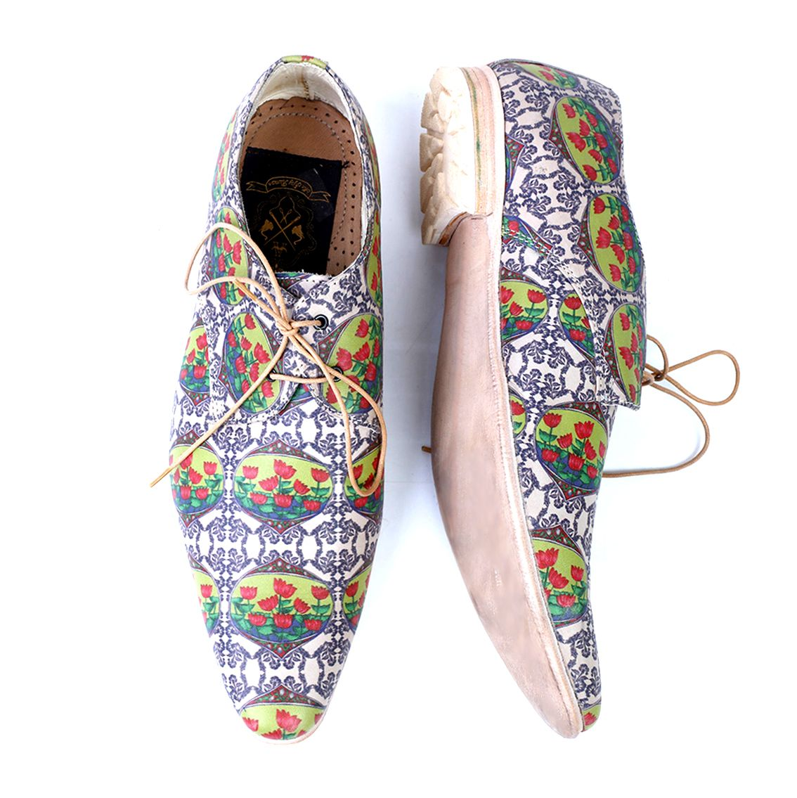 Qutub Handmade Leather Printed Shoes