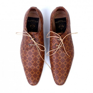 Amer Handmade Leather Printed Shoes
