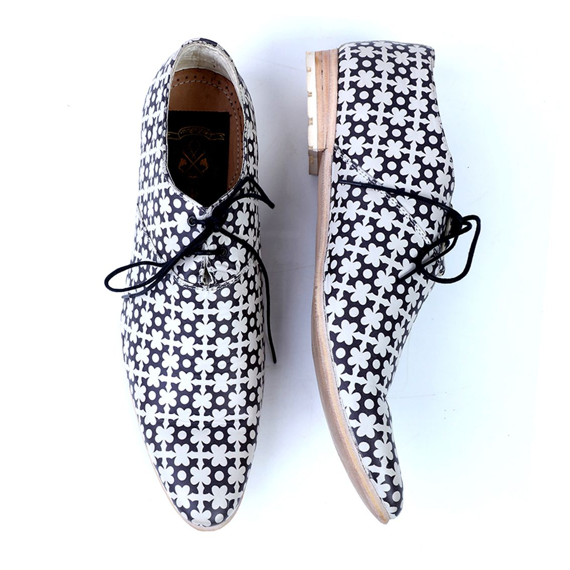 Fateh Handcrafted Leather Printed Shoes