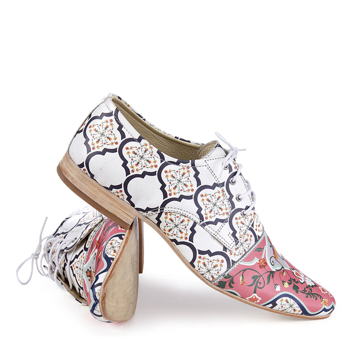 Akash Handmade Leather Printed Shoes