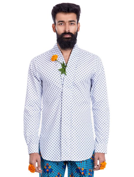 Temple Shawl Collar Shirt