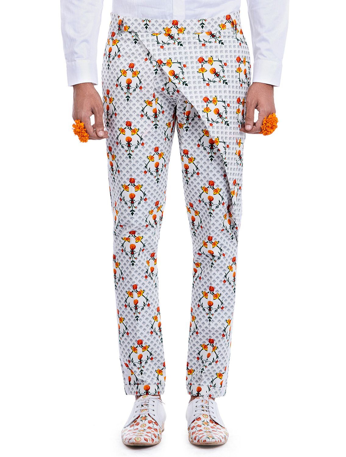 Pandit Printed Wrap Trousers