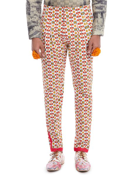 Assi Broad-Waist Printed Trousers