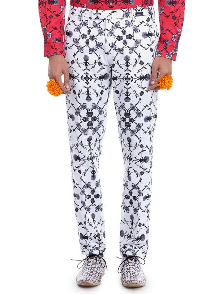 Awadh Monochrome Printed Trousers