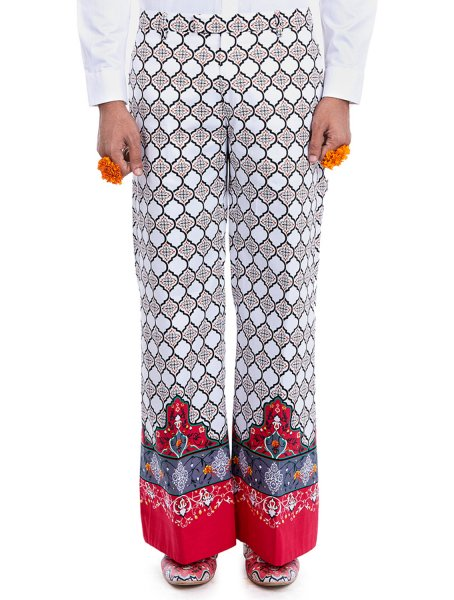 Guru Printed Flared Trousers