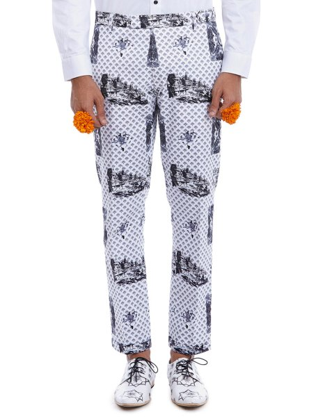 Mukt Luxe Cotton Printed Trousers