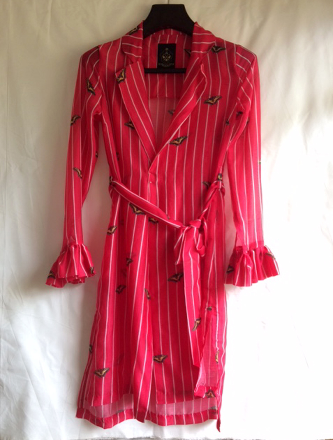Felidae Stripe Long Shirtdress