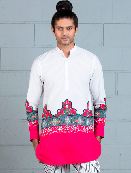 Mahal Shirt with Central Maharajah print