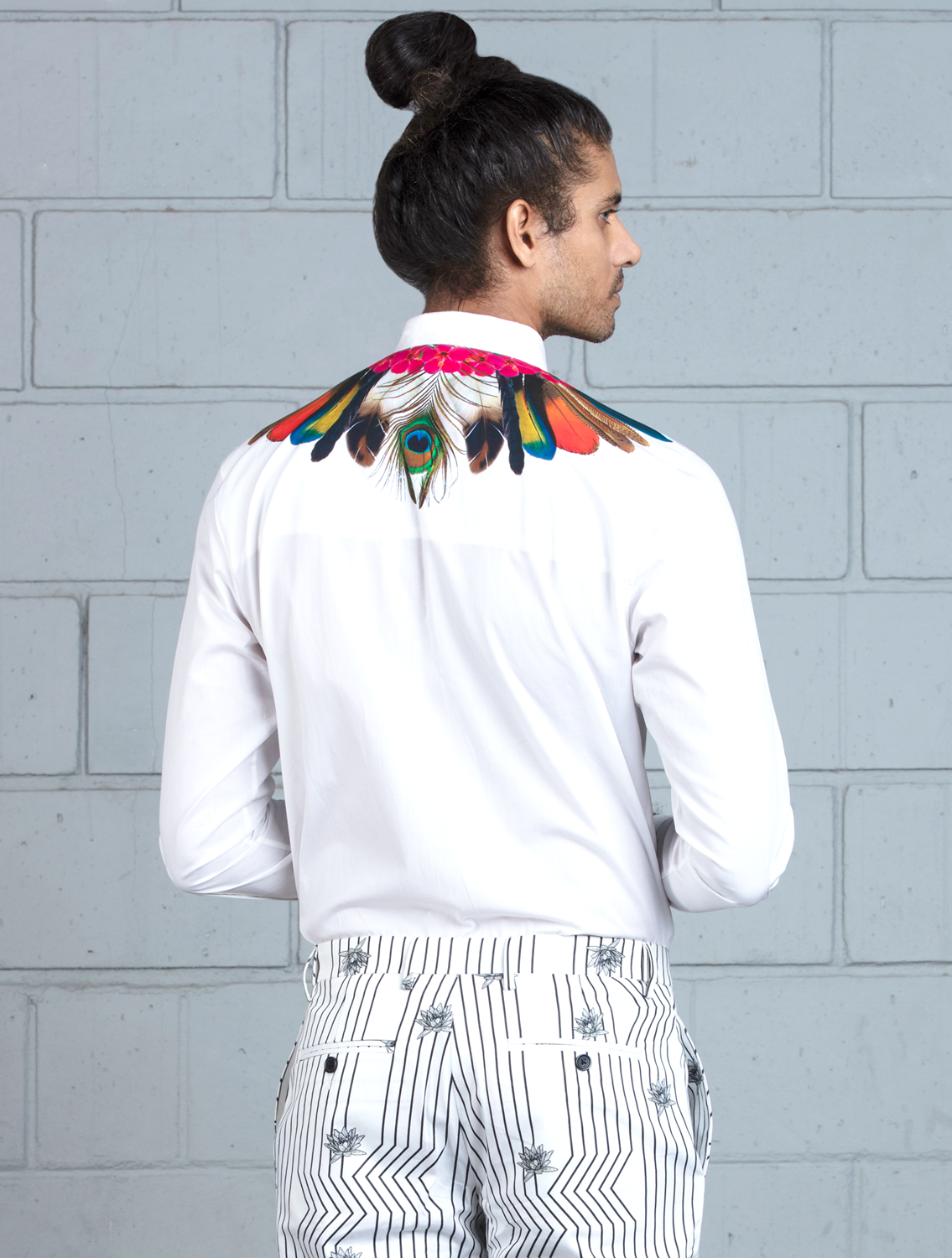Indicus Signature Feather Printed Shirt