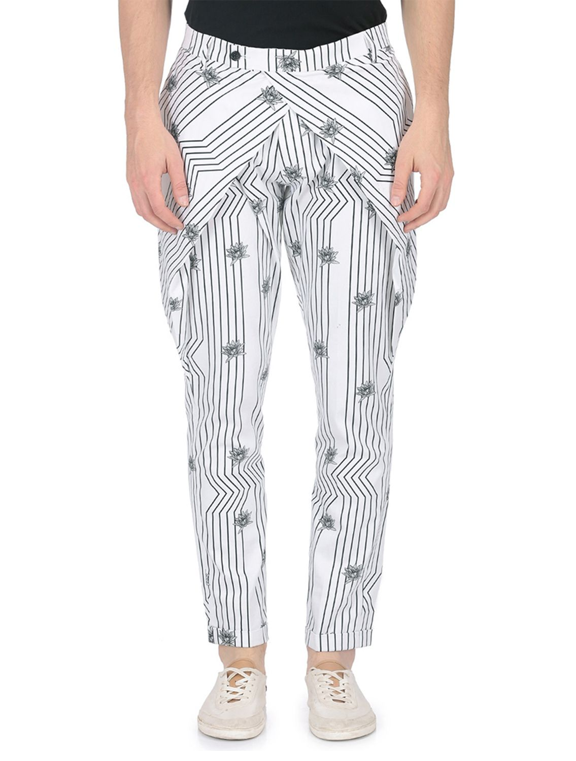 Crossover Waist Jalaj Trousers