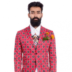 Geom Lotus Red Blazer
