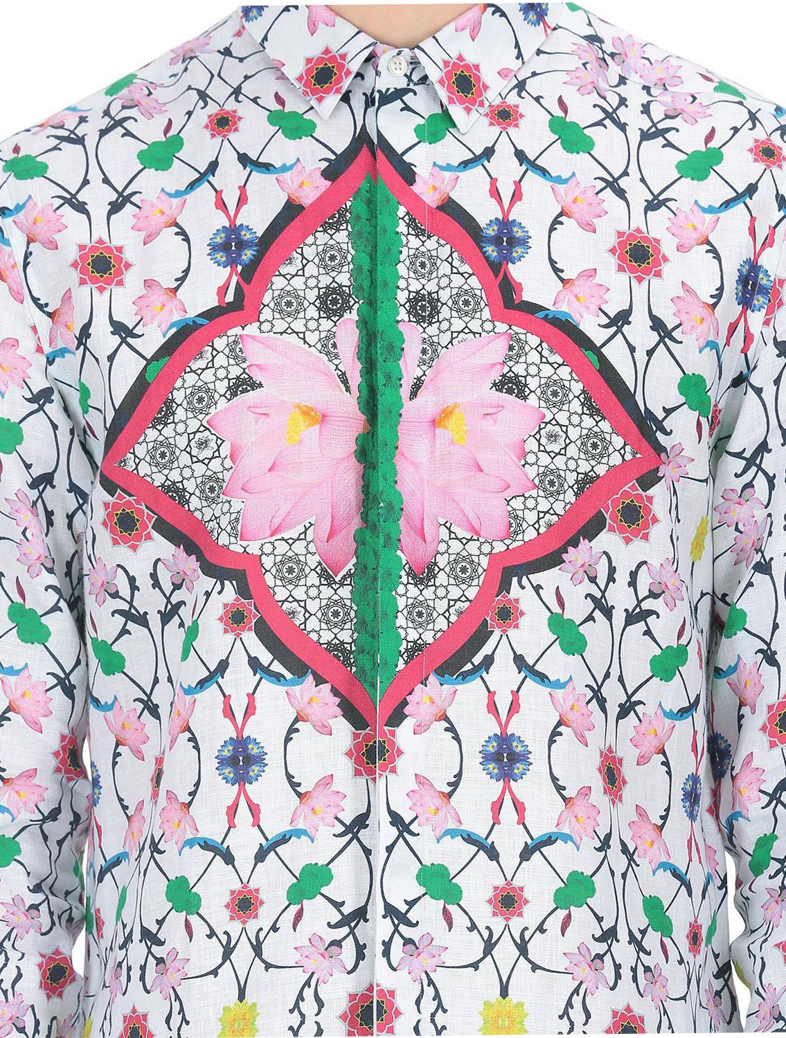 Nelumbo Printed Linen Shirt
