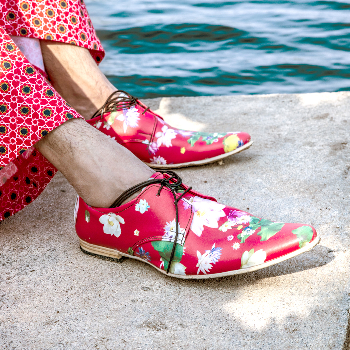 Red Lotus Handcrafted Leather Shoes