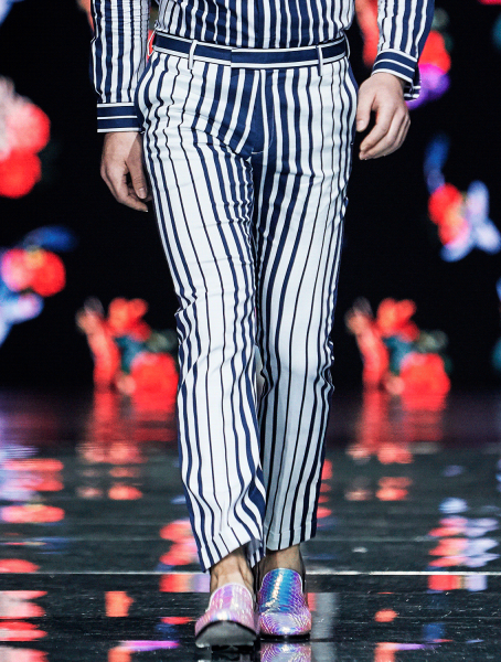Eric Printed Striped Trousers