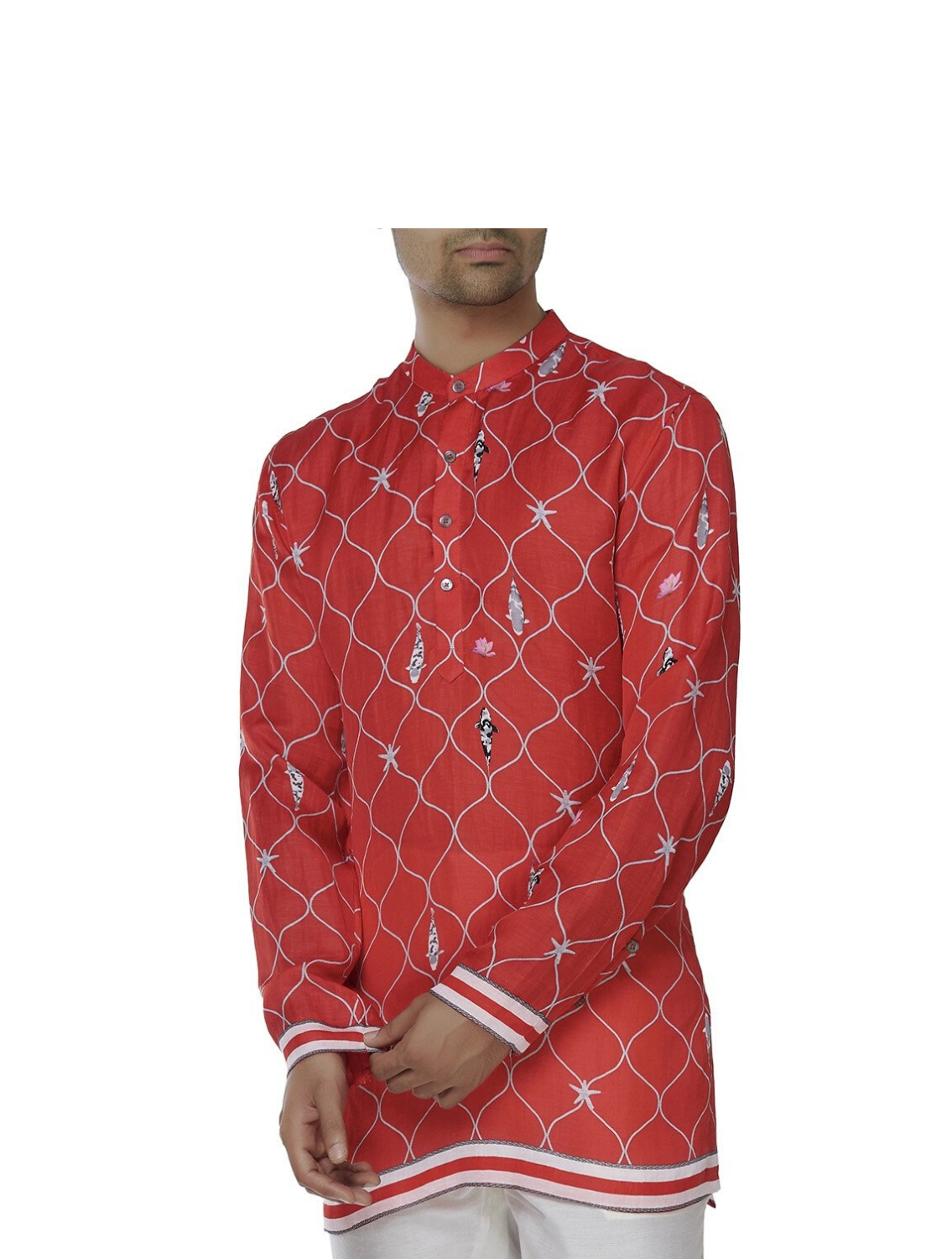 Ferdinand Red Silk Shirt